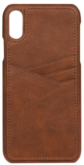 Image of   Essentials PU triple card cover til Apple iPhone XR Brun