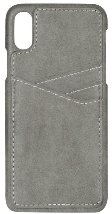 Image of   Essentials PU triple card cover til Apple iPhone XR Grå