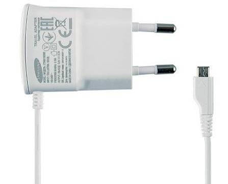 Image of   Samsung microUSB rejselader ETA0U10EW Hvid