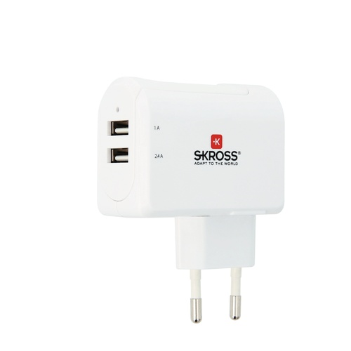 Image of   Euro USB Charger 2-Port 34A