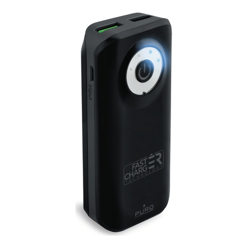 Image of   Fast Charge Powerbank 4000mAh 1USB 24A sort