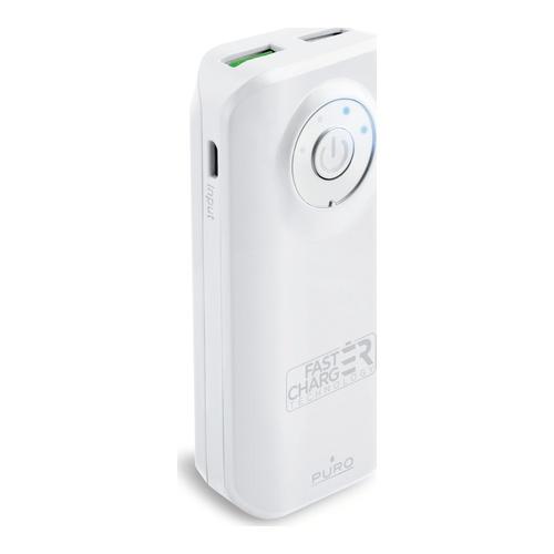 Image of   Fast Charge Powerbank 5200mAh 1USB 24A hvid