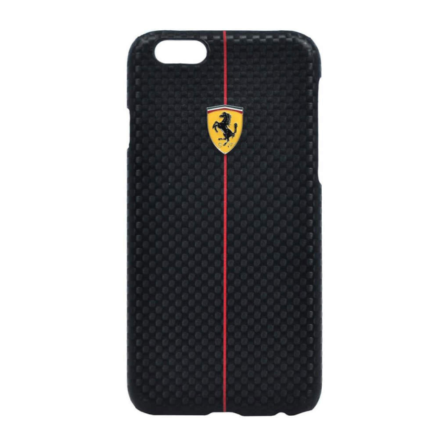 Image of   Ferrari - F1 Carbon Collection - Hard Cover/Case - Apple iPhone 6 - Black