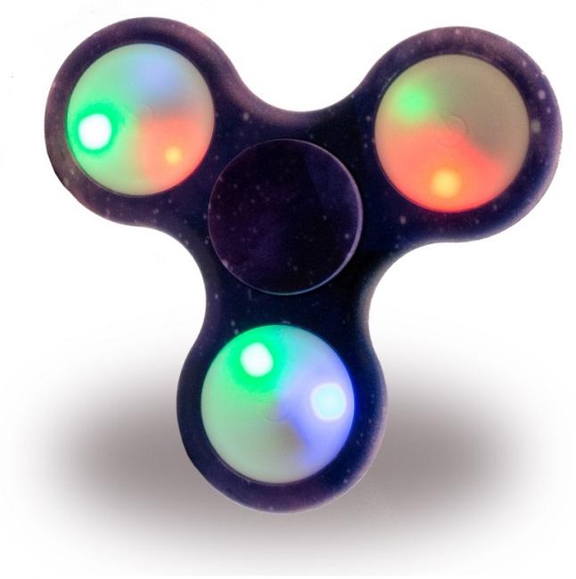 Image of   Fidget Spinner / Hånd Spinner Med LED Lys Camouflage Lilla