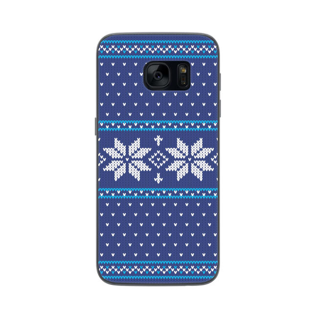 Image of   FLAVR Case Ugly Xmas Sweater for Galaxy S7 blue