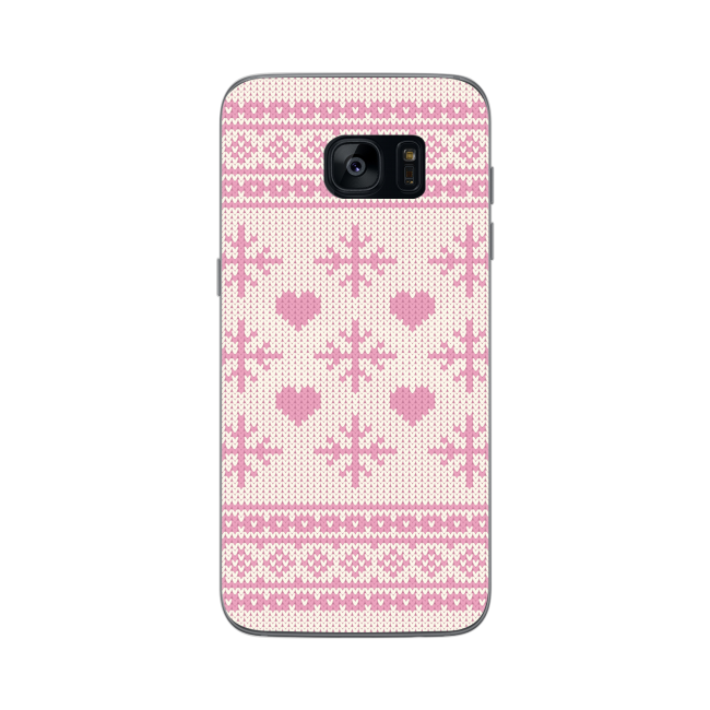 Image of   FLAVR Case Ugly Xmas Sweater for Galaxy S7 Edge pink