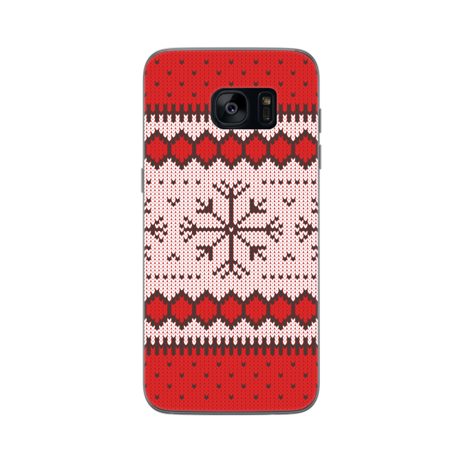Image of   FLAVR Case Ugly Xmas Sweater for Galaxy S7 Edge red