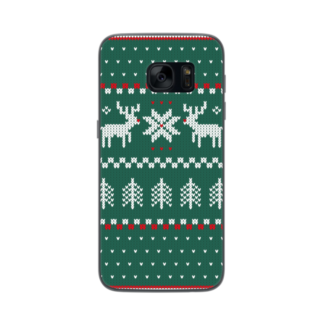 Image of   FLAVR Case Ugly Xmas Sweater for Galaxy S7 green