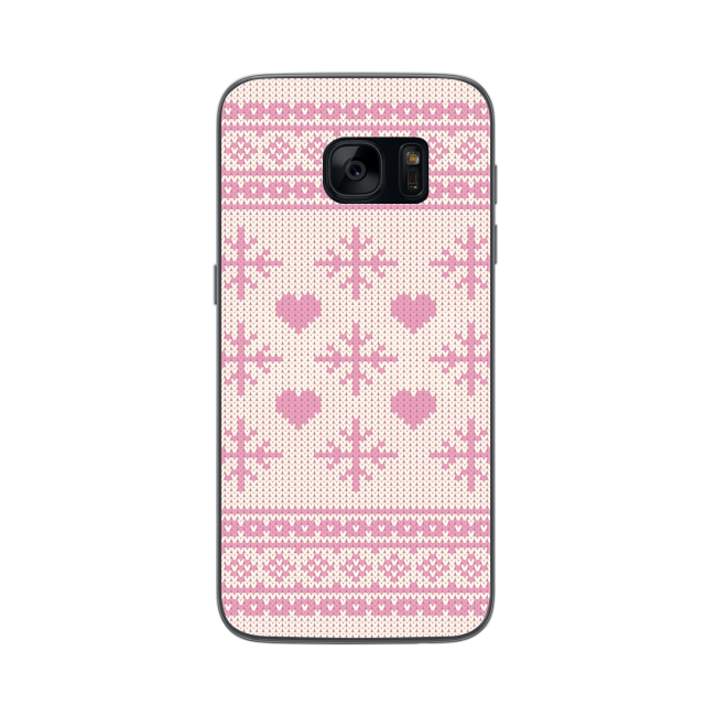 Image of   FLAVR Case Ugly Xmas Sweater for Galaxy S7 pink
