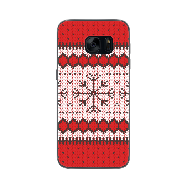 Image of   FLAVR Case Ugly Xmas Sweater for Galaxy S7 red