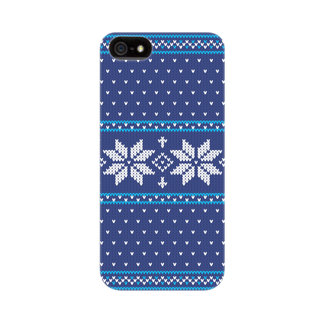 Image of   FLAVR Case Ugly Xmas Sweater for iPhone 5/5S/SE blue