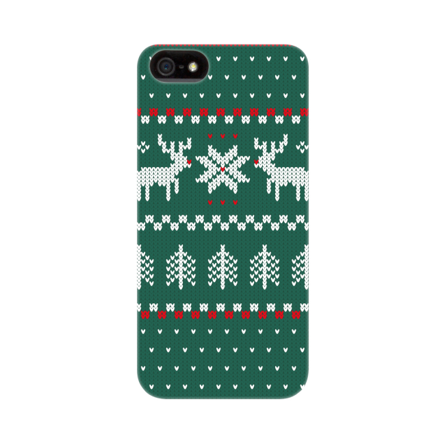 Image of   FLAVR Case Ugly Xmas Sweater for iPhone 5/5S/SE green