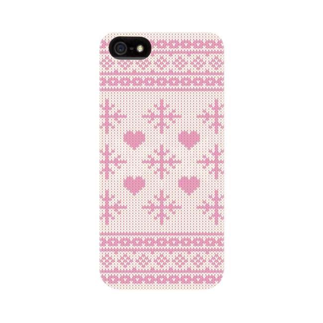 Image of   FLAVR Case Ugly Xmas Sweater for iPhone 5/5S/SE pink
