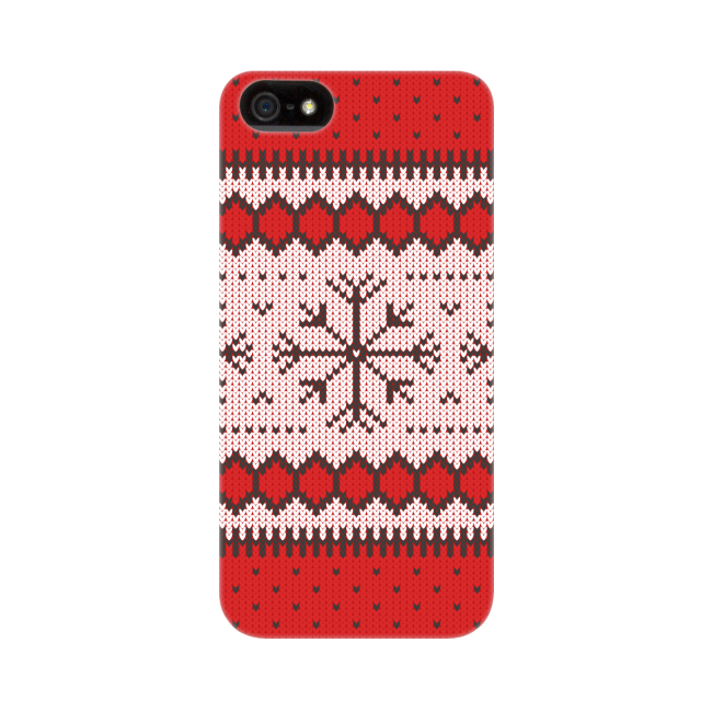 Image of   FLAVR Case Ugly Xmas Sweater for iPhone 5/5S/SE red