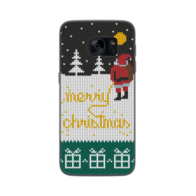 Image of   FLAVR Case Ugly Xmas Sweater Yellow Snow for Galaxy S7 colourful