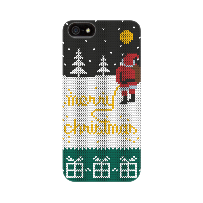 Image of   FLAVR Case Ugly Xmas Sweater Yellow Snow for iPhone 5/5S/SE colourful