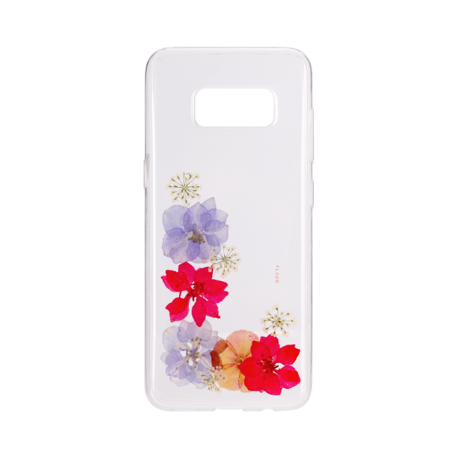 Billede af FLAVR iPlate Real Flower Amelia for Galaxy S8 colourful