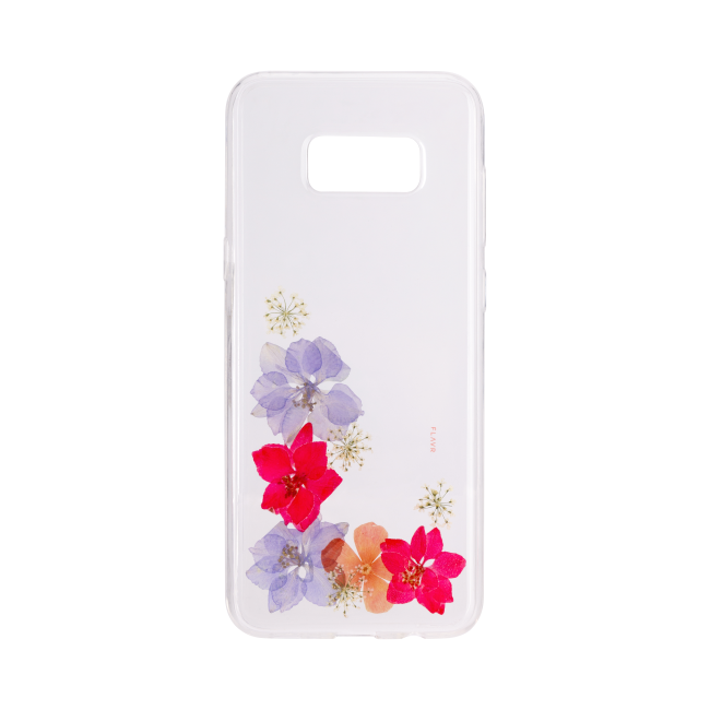 Billede af FLAVR iPlate Real Flower Amelia for Galaxy S8 Plus colourful