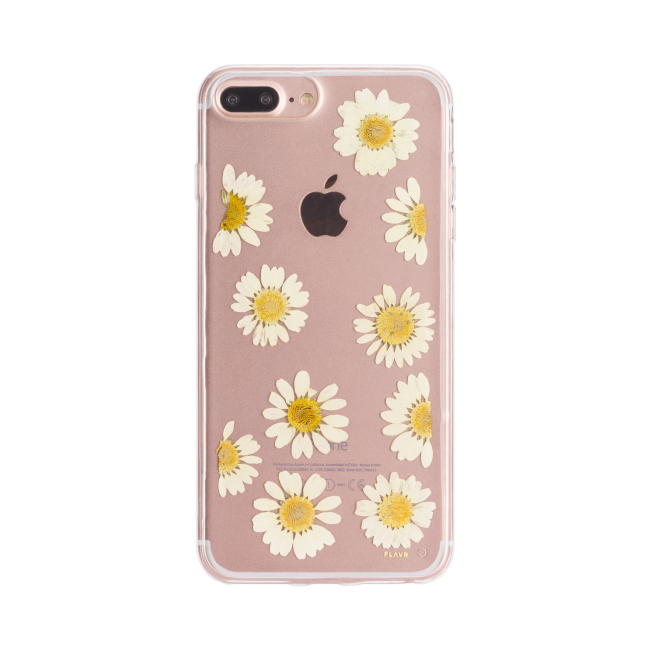 FLAVR iPlate Real Flower Daisy for iPhone 6+/6s+/7+/8+ colourful