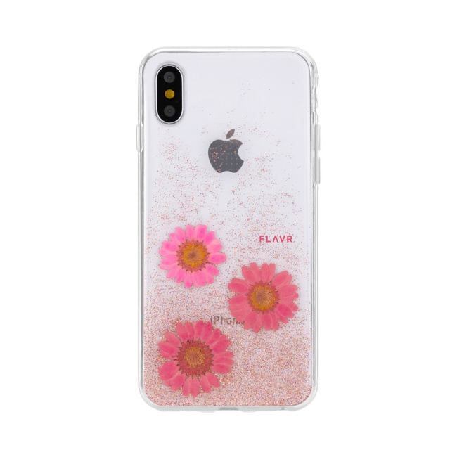 Image of   FLAVR iPlate Real Flower Gloria for iPhone X/Xs pink