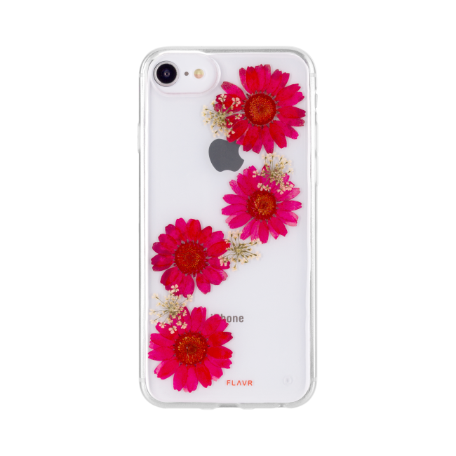 FLAVR iPlate Real Flower Paula for iPhone 6 6S 7 8 red 336da1f738ad6