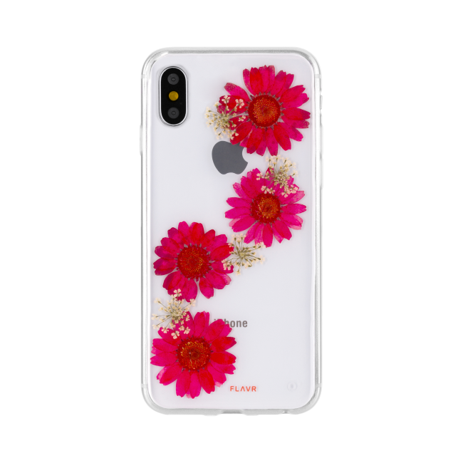 Image of   FLAVR iPlate Real Flower Paula for iPhone X/Xs red