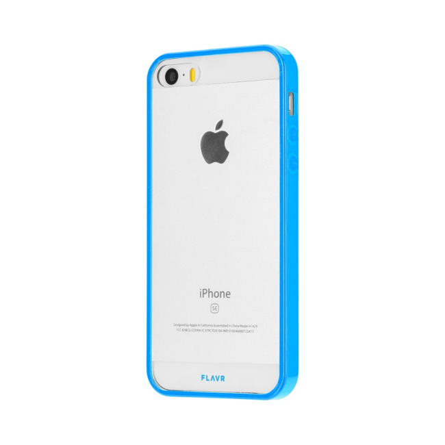 Image of   FLAVR Odet for iPhone 5/5S/SE clear/blue