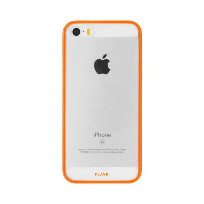 Image of   FLAVR Odet for iPhone 5/5S/SE clear/orange