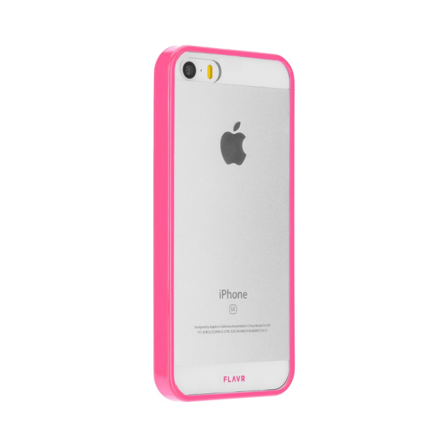 Image of   FLAVR Odet for iPhone 5/5S/SE clear/pink