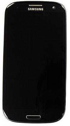 Billede af Reservedel: Originalt Samsung i9305 Galaxy S III 4G Touch/LCD Unit - Sort