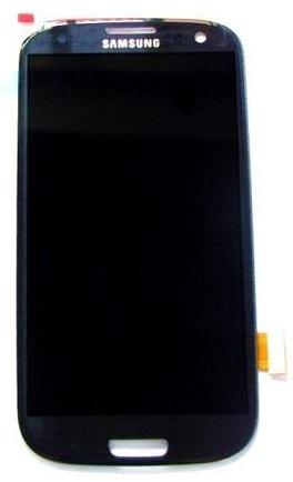 Billede af Reservedel: Originalt Samsung i9300 Galaxy S3 front modul Touch/LCD Blå