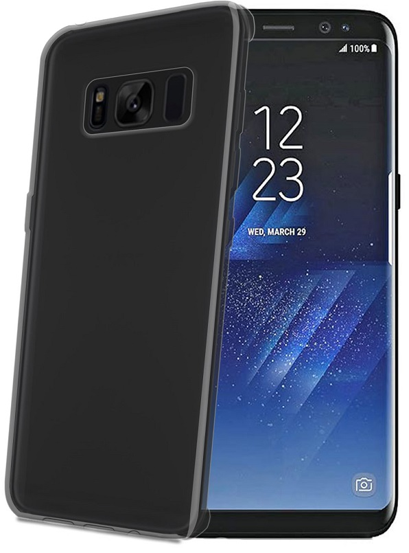 Billede af Samsung Galaxy S8 Silikone Cover fra Celly Sort