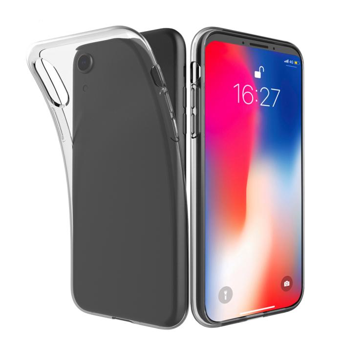 Image of   Gennemsigtigt Silikone Cover til iPhone XS Max (den store model)