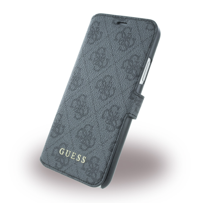 Image of   Guess - 4G - Book Case - Apple iPhone X - Grey
