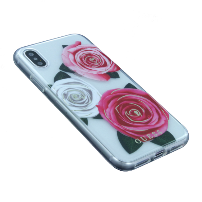 Image of   Guess - Flower Desire - Hard Cover - Apple iPhone X - Pink/White
