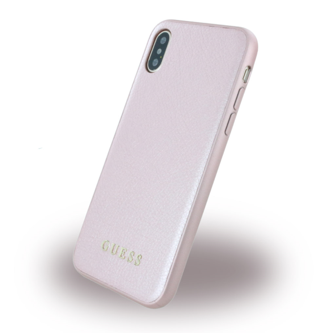 Image of   Guess Hardcase Kunstlæder cover iPhone X Pink