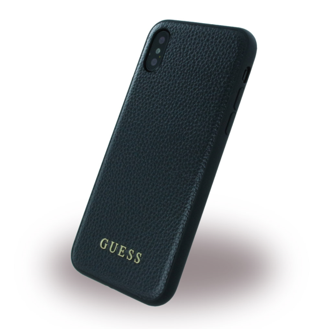 Image of   Guess Hardcase Kunstlæder cover iPhone X Sort