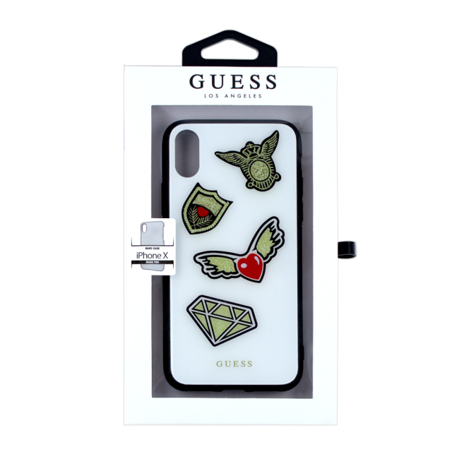 Image of   Guess - Iconic - Hard Case - Apple iPhone X - White