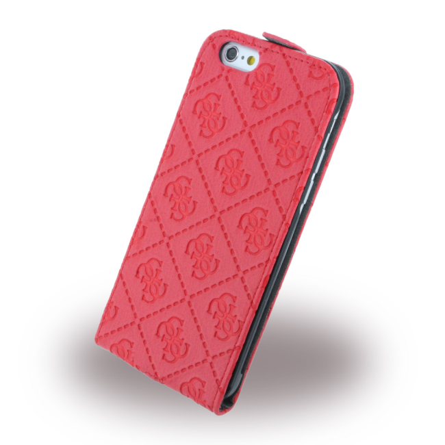 Image of   Guess - Scarlett GUFLP6SCRE - Flip Case / Phone Wallet - Apple iPhone 6 6S - Red
