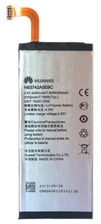 Billede af Huawei Ascend P6 Batteri Originalt HB3742A0EBC