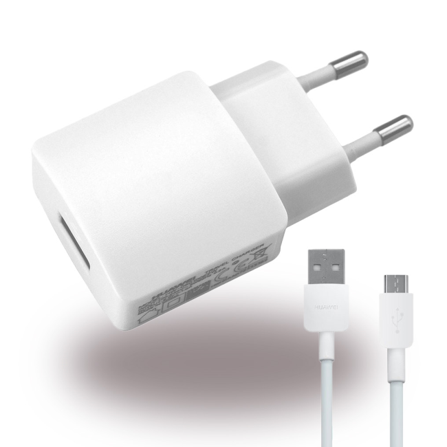 Billede af Huawei Charger 2.0A with FF0998 microUSB in White (Bulk)