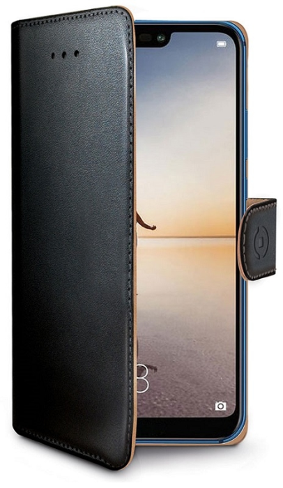 Image of   Huawei P20 Lite flipcover Celly Wally Case - Sort