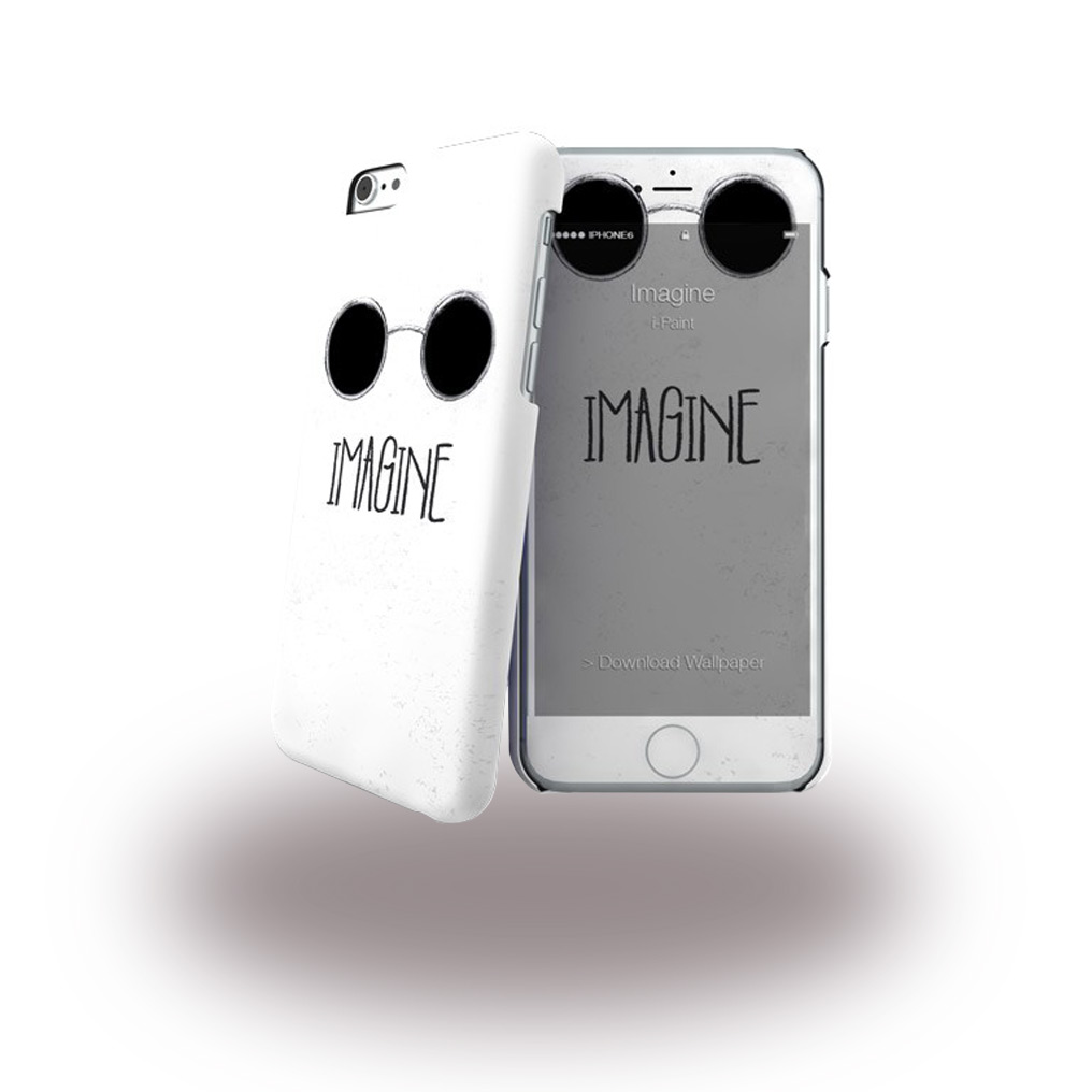 Billede af i-Paint - Imagine - Hardcover + Screen Protector - Apple iPhone 6 6s - White
