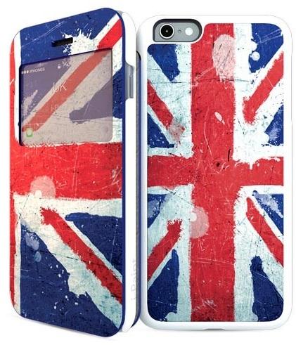 Billede af Apple iPhone 6 / 6S 2-i1 Cover med engelsk flag i-Paint UK