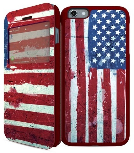 Billede af Apple iPhone 6 / 6S 2-i1 Cover med amerikansk flag i-Paint UK