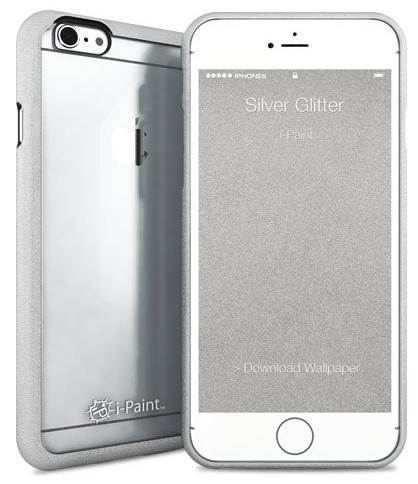 Billede af Apple iPhone 6 / 6S med gennemsigtig bagside i-Paint Ghost Glitter