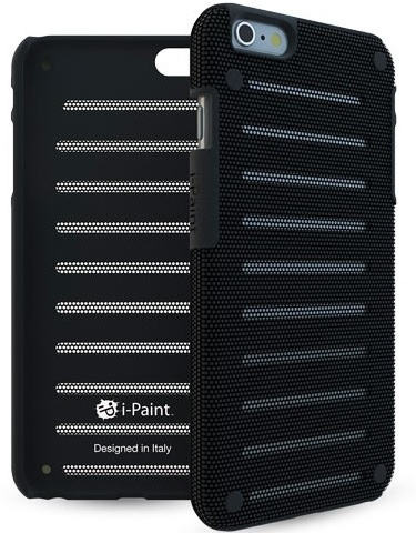 Apple iPhone 6 / 6S Cover fra i-Paint Metal Case Sort