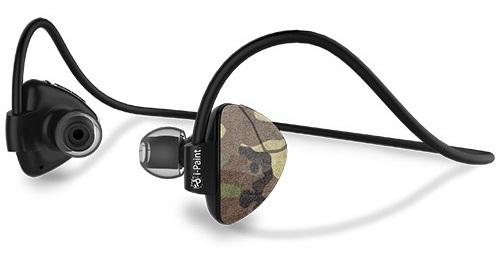 Billede af i-Paint Sport Design Trådløst Bluetooth headset med mikrofon Camo