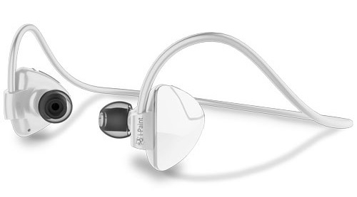 Billede af i-Paint Sport Design Trådløst Bluetooth headset med mikrofon Hvid