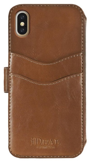 Image of   iDeal STHLM Wallet 2-i-1 cover til iPhone X Brun